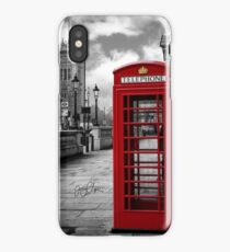 Iconic London: Red Phone Booth iPhone Case/Skin