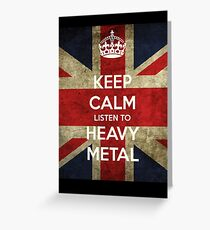 Heavy metal Greeting Card