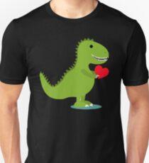 Kids Valentine's Day Gift Idea for Kids - Dinosaur Heart Unisex T-Shirt
