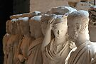Statues, interior of the Colosseum, Rome by David Carton