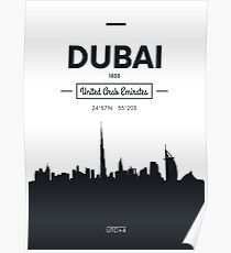city skyline Dubai Poster