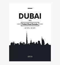 city skyline Dubai Photographic Print