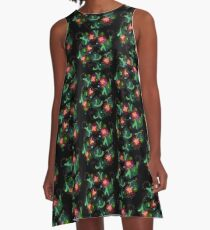 Simple Floral Magic A-Line Dress