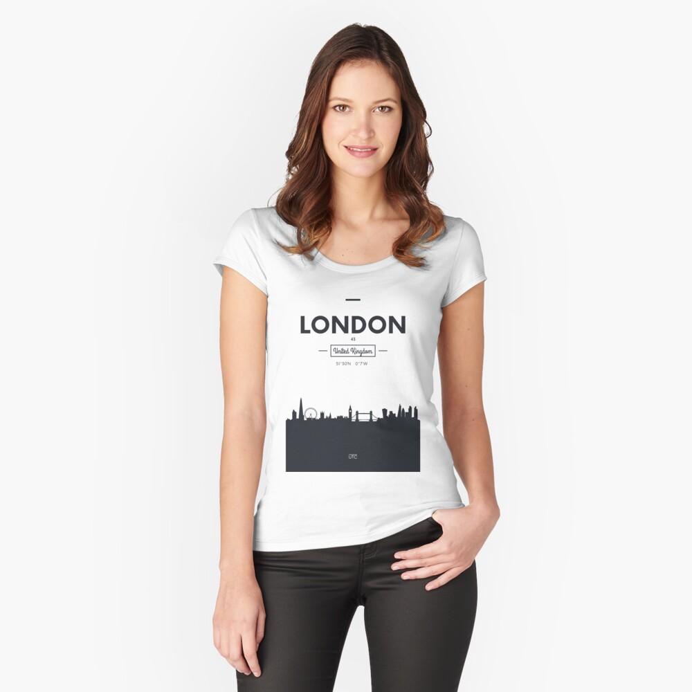 Skyline der Stadt London Tailliertes Rundhals-Shirt