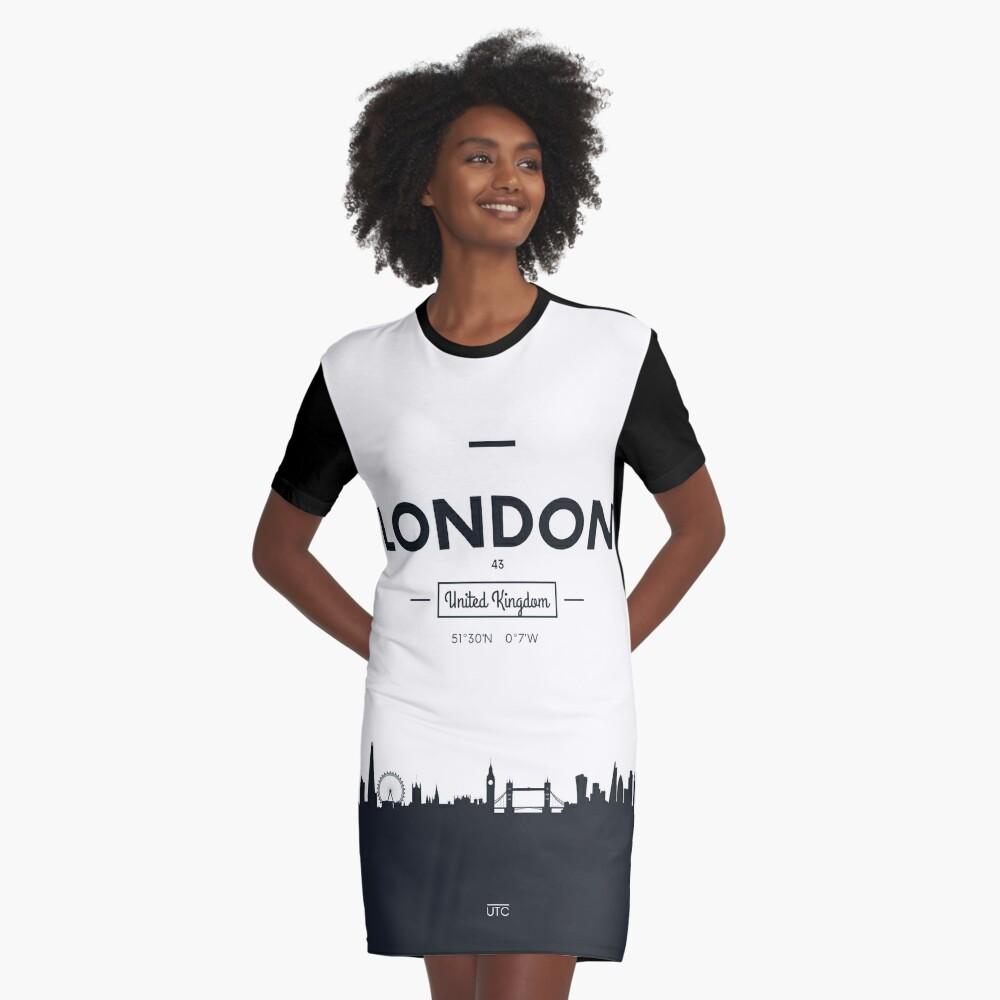 Skyline der Stadt London T-Shirt Kleid