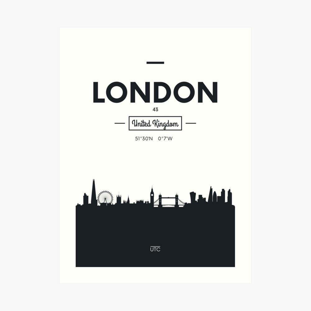 Skyline der Stadt London Kunstdruck