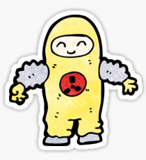 cartoon man in protective suit Sticker