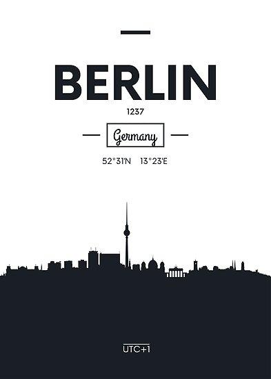 city skyline Berlin by maximgertsen
