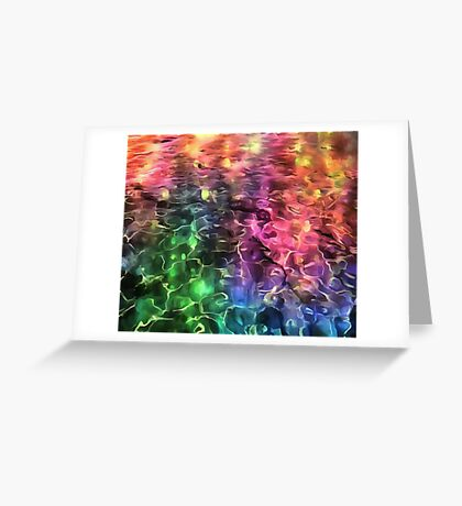 The End Of The Rainbow Abstract Greeting Card