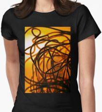 Gold gimp macro Women's Fitted T-Shirt