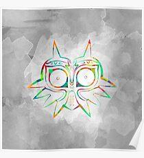 Majora's Mask Lines Color Poster
