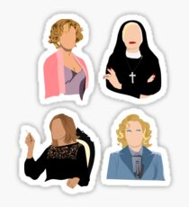 American Horror Story Jessica Lange Seasons 1-4 Sticker
