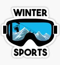 Winter Sports - Snowboarding Skiing  Sticker