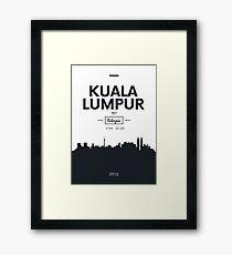 city skyline Kuala Lumpur Framed Print