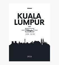 city skyline Kuala Lumpur Photographic Print