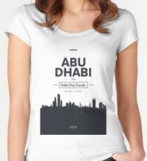 city skyline Abu Dhabi Women's Fitted Scoop T-Shirt