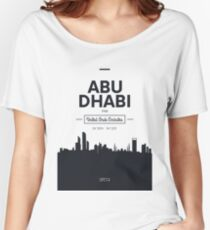 city skyline Abu Dhabi Women's Relaxed Fit T-Shirt