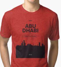 city skyline Abu Dhabi Tri-blend T-Shirt