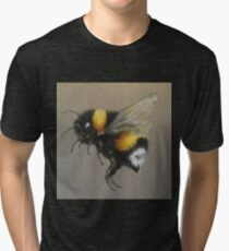 Bumble Bee Oil Painting by Angela Brown Art Tri-blend T-Shirt