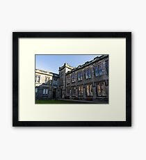 Shadows and Reflections - University of Aberdeen Courtyard Framed Print