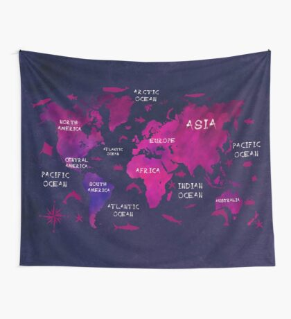 world map 47 Wall Tapestry