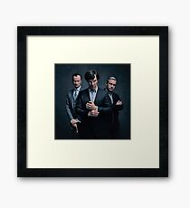 Sherlock, John and Mycroft - Season 4 Framed Print