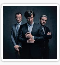 Sherlock, John and Mycroft - Season 4 Sticker