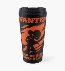 Wanted Luffy Travel Mug