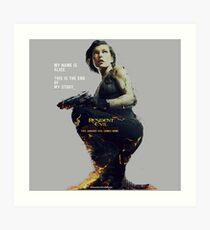 Resident Evil Alice Art Print