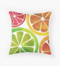 A Burst of Citrus Throw Pillow