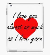 Yarn Valentine 1 iPad Case/Skin