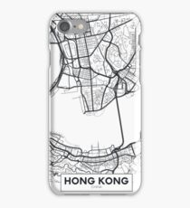 Vector poster map city Hong Kong iPhone Case/Skin