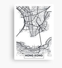 Vector poster map city Hong Kong Canvas Print