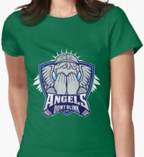 Angels- Don`t Blink Womens Fitted T-Shirt