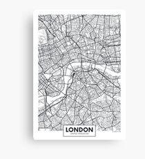 Vector poster map city London Canvas Print