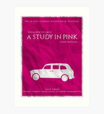 BBC Sherlock - A Study in Pink Art Print