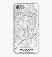 Vector poster map city Moscow iPhone Case/Skin