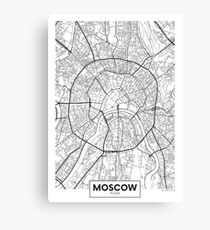 Vector poster map city Moscow Canvas Print