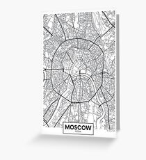 Vector poster map city Moscow Greeting Card