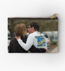 The Candid Couple about to Kiss Studio Pouch