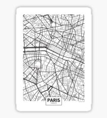 Vector poster map city Paris Sticker
