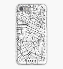 Vector poster map city Paris iPhone Case/Skin