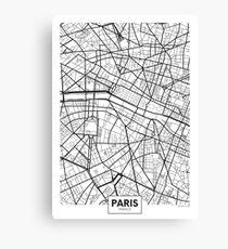 Vector poster map city Paris Canvas Print