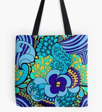 Psychedelisches Muster der Hippies 60s Tote Bag
