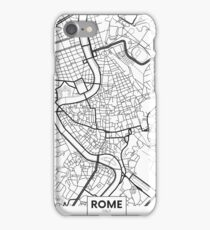 Vector poster map city Rome iPhone Case/Skin