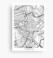 Vector poster map city Rome Canvas Print