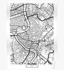 Vector poster map city Rome Poster