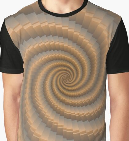 Swirling Gold by Julie Everhart Graphic T-Shirt