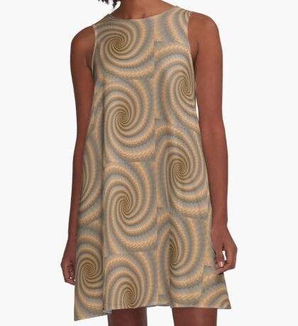 Swirling Gold by Julie Everhart A-Line Dress