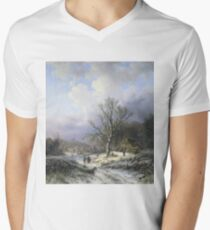 Alexander Joseph Daiwaille - Snow Landscape T-Shirt